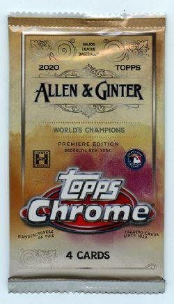 2020 BASEBALL -  TOPPS ALLEN & GINTER CHROME (P4/B18/C12)