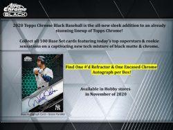 2020 BASEBALL -  TOPPS CHROME BLACK (P4/B1/C12)