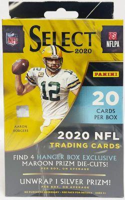 2020 FOOTBALL -  PANINI SELECT - HANGER BOX (MAROON PRIZMS)