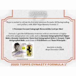 2020 RACING -  TOPPS FORMULA 1 DYNASTY HOBBY