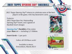 2021 BASEBALL -  TOPPS OPENING DAY (P7/B36)