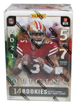 2021 FOOTBALL -  PANINI ORIGINS - BLASTER BOX (5 CARDS PER PACK/7 PACKS PER BOX)