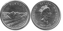 25 CENTS -  25 CENTS 1992 - YUKON - BRILLANT INCIRCULE (BU) -  PIÈCES DU CANADA 1992 05