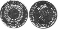 25 CENTS -  25 CENTS 2000 - FAMILLE - BRILLANT INCIRCULE (BU) -  PIÈCES DU CANADA 2000 08