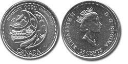 25 CENTS -  25 CENTS 2000 - INGENIOSITE - BRILLANT INCIRCULE (BU) -  PIÈCES DU CANADA 2000 02