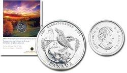 25 CENTS -  CENTENAIRE DE LA SASKATCHEWAN - PIÈCE PREMIER JOUR OFFICIELLE -  PIÈCES DU CANADA 2005