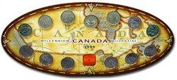 25 CENTS COMMEMORATIFS 1999 -  ENSEMBLE DES PIÈCES HORS-CIRCULATION -  PIÈCES DU CANADA 1999
