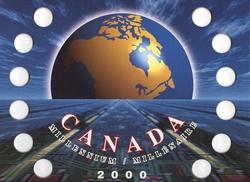 25 CENTS COMMEMORATIFS 2000 -  CARTON DE RANGEMENT