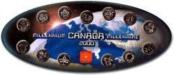 25 CENTS COMMEMORATIFS 2000 -  ENSEMBLE DES PIÈCES HORS-CIRCULATION -  PIÈCES DU CANADA 2000