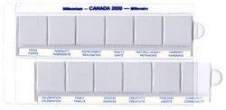 25 CENTS COMMEMORATIFS 2000 -  RANGEMENT POUR LES DOUZE 25 CENTS DE 2000