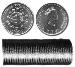 25 CENTS -  ROULEAU ORIGINAL DE 25 CENTS 2000 - COMMUNAUTE -  PIÈCES DU CANADA 2000 12