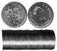 25 CENTS -  ROULEAU ORIGINAL DE 25 CENTS 2000 - FIERTE -  PIÈCES DU CANADA 2000 01