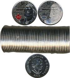 25 CENTS -  ROULEAU ORIGINAL DE 25 CENTS 2012 - TECUMSEH -  PIÈCES DU CANADA 2012 02