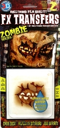 3D FX TRANSFERS -  ZOMBIE - JOUE OUVERTE