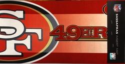49ERS DE SAN FRANCISCO -  PETIT TAPIS INTERCHANGEABLE (25CM X 55CM)