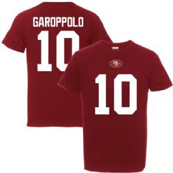 49ERS DE SAN FRANCISCO -  T-SHIRT JIMMY GAROPPOLO #10 - ROUGE