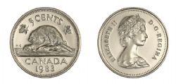 5 CENTS -  5 CENTS 1983 - BRILLANT INCIRCULE (BU) -  PIÈCES DU CANADA 1983