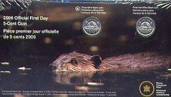 5 CENTS -  PIÈCES PREMIER JOUR OFFICIELLES -  PIÈCES DU CANADA 2006