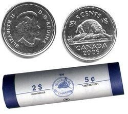 5 CENTS -  ROULEAU ORIGINAL DE 5 CENTS 2006