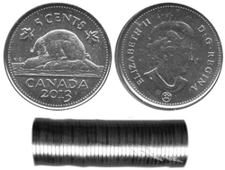 5 CENTS -  ROULEAU ORIGINAL DE 5 CENTS 2013
