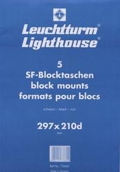 5 POCHETTES NOIRES LIGHTHOUSE POUR BLOCS 297X210D