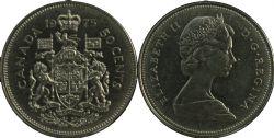 50 CENTS -  50 CENTS 1975 - BRILLANT INCIRCULE (BU) -  PIÈCES DU CANADA 1975