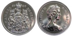 50 CENTS -  50 CENTS 1980 - BRILLANT INCIRCULE (BU) -  PIÈCES DU CANADA 1980