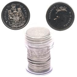 50 CENTS -  50 CENTS 1992 - LOT DE 25 PIÈCES - PROOF-LIKE (PL) -  PIÈCES DU CANADA 1992