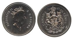 50 CENTS -  50 CENTS 1995 - BRILLANT INCIRCULE (BU) -  PIÈCES DU CANADA 1995