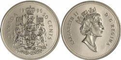 50 CENTS -  50 CENTS 1996 - BRILLANT INCIRCULÉ (BU) -  PIÈCES DU CANADA 1996