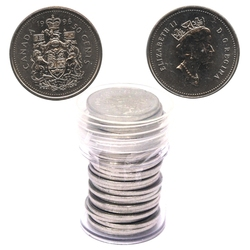50 CENTS -  50 CENTS 1996 - LOT DE 25 PIÈCES - BRILLANT INCIRCULÉ (BU) -  PIÈCES DU CANADA 1996