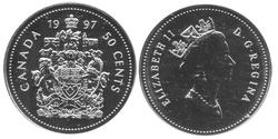 50 CENTS -  50 CENTS 1997 - SPÉCIMEN (SP) -  PIÈCES DU CANADA 1997
