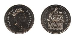 50 CENTS -  50 CENTS 1998 - BRILLANT INCIRCULE (BU) -  PIÈCES DU CANADA 1998