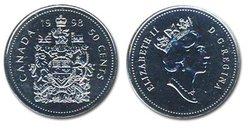 50 CENTS -  50 CENTS 1998 - PROOF-LIKE (PL) -  PIÈCES DU CANADA 1998