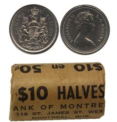 50 CENTS -  ROULEAU ORIGINAL DE 50 CENTS 1981 -  PIÈCES DU CANADA 1981