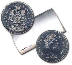 50 CENTS -  ROULEAU ORIGINAL DE 50 CENTS 1988 -  PIÈCES DU CANADA 1988