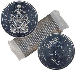 50 CENTS -  ROULEAU ORIGINAL DE 50 CENTS 1997 -  PIÈCES DU CANADA 1997