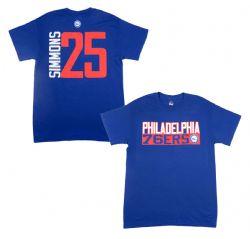 76ERS DE PHILADELPHIE -  T-SHIRT BEN SIMMONS #25 - BLEU