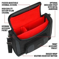 ACCESSORY POWER -  USA GEAR NOTEBOOK CASE - ROUGE