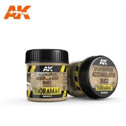 ACRYLIC DIORAMA -  EFFETS D'ÉCLABOUSSURES - POUSSIÈRE ACCUMULÉE (100 ML) -  AK INTERACTIVE