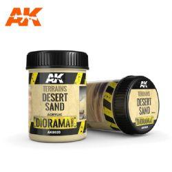 ACRYLIC DIORAMA -  TERRAINS - SABLE DE DESERT (250 ML) -  AK INTERACTIVE