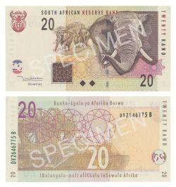 AFRIQUE DU SUD -  20 RAND 2005-2009 (UNC)