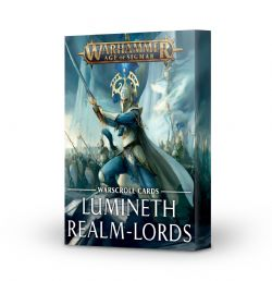 AGE OF SIGMAR -  WARSCROLL CARDS MISES À JOUR (FRANÇAIS) -  LUMINETH REALM-LORDS
