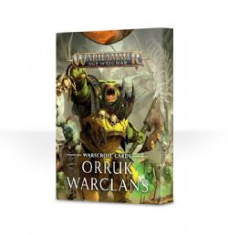 AGE OF SIGMAR -  WARSCROLL CARDS - ORRUK WARCLANS (ANGLAIS)