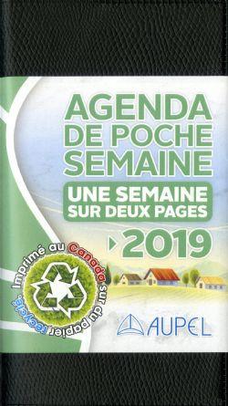 AGENDA -  AGENDA DE POCHE UNE SEMAINE SUR DEUX PAGES 2019