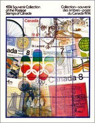 ALBUMS-SOUVENIRS -  LA COLLECTION DES TIMBRES DU CANADA 1974