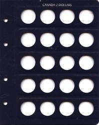 ALBUMS VISTA -  FEUILLE ADDITIONNELLE POUR 2 DOLLARS CANADIENS (1996-DATE)