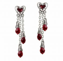 ALCHEMY GOTHIC -  BLEEDING HEART EARRINGS