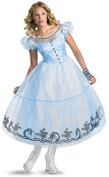 ALICE AU PAYS DES MERVEILLES -  COSTUME D'ALICE - VERSION TIM BURTON