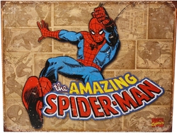 AMAZING SPIDER-MAN -  AFFICHE MÉTALLIQUE